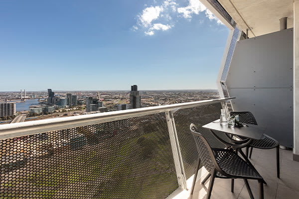 OAKS Melbourne on William Suites 1 Bedroom View Balcony