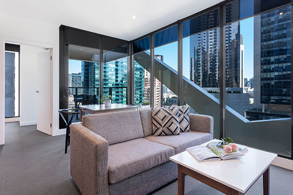 OAKS WRAP ON SOUTHBANK 1 Bedroom City View Living