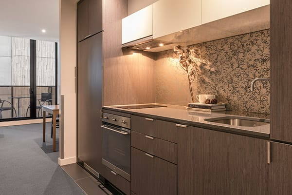 WRAP on Southbank 1 Bedroom Kitchen