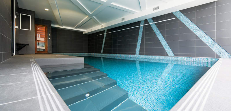 large indoor pool for hotel guests staying at WRAP On Southbank in Melbourne CBD