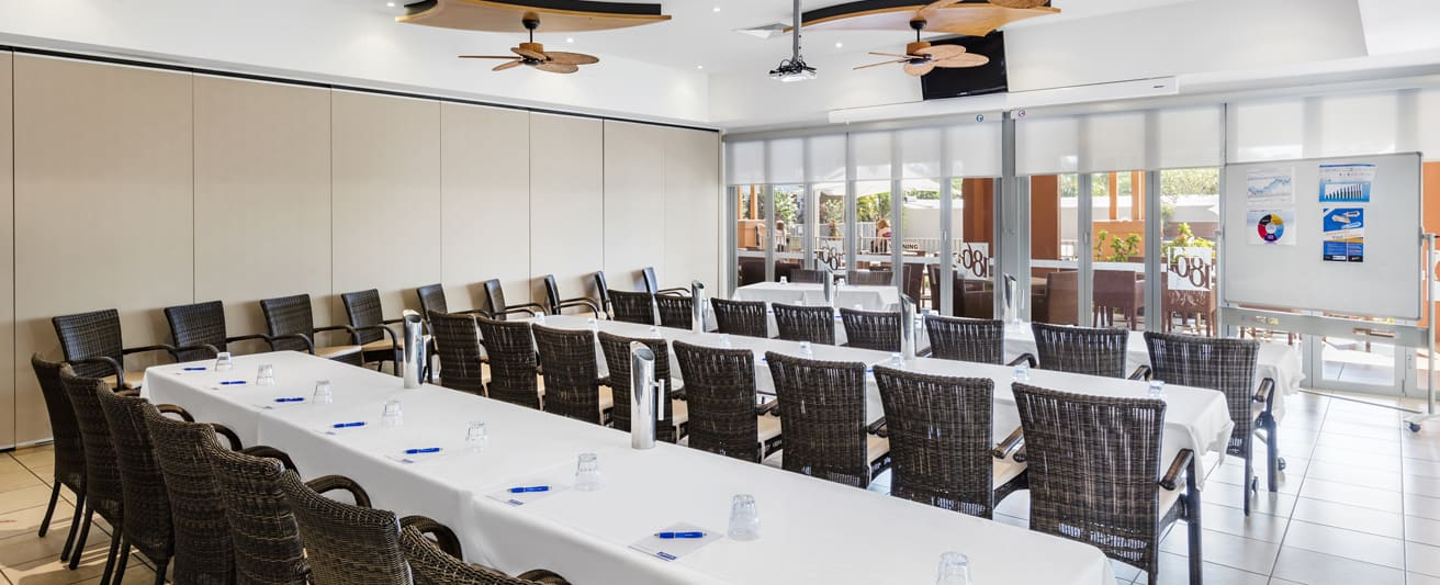 large, air conditioned conference room for hire with Wi-Fi in Broome, Western Australia