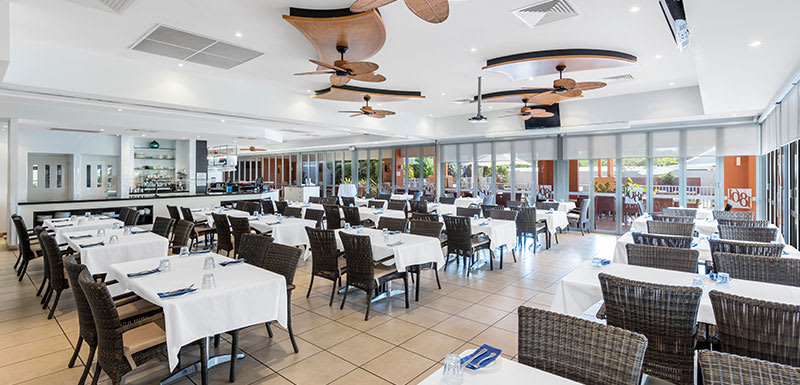 interior of 1861 Restaurant and Bar in Broome Western Australia with air conditioning and great food for customers