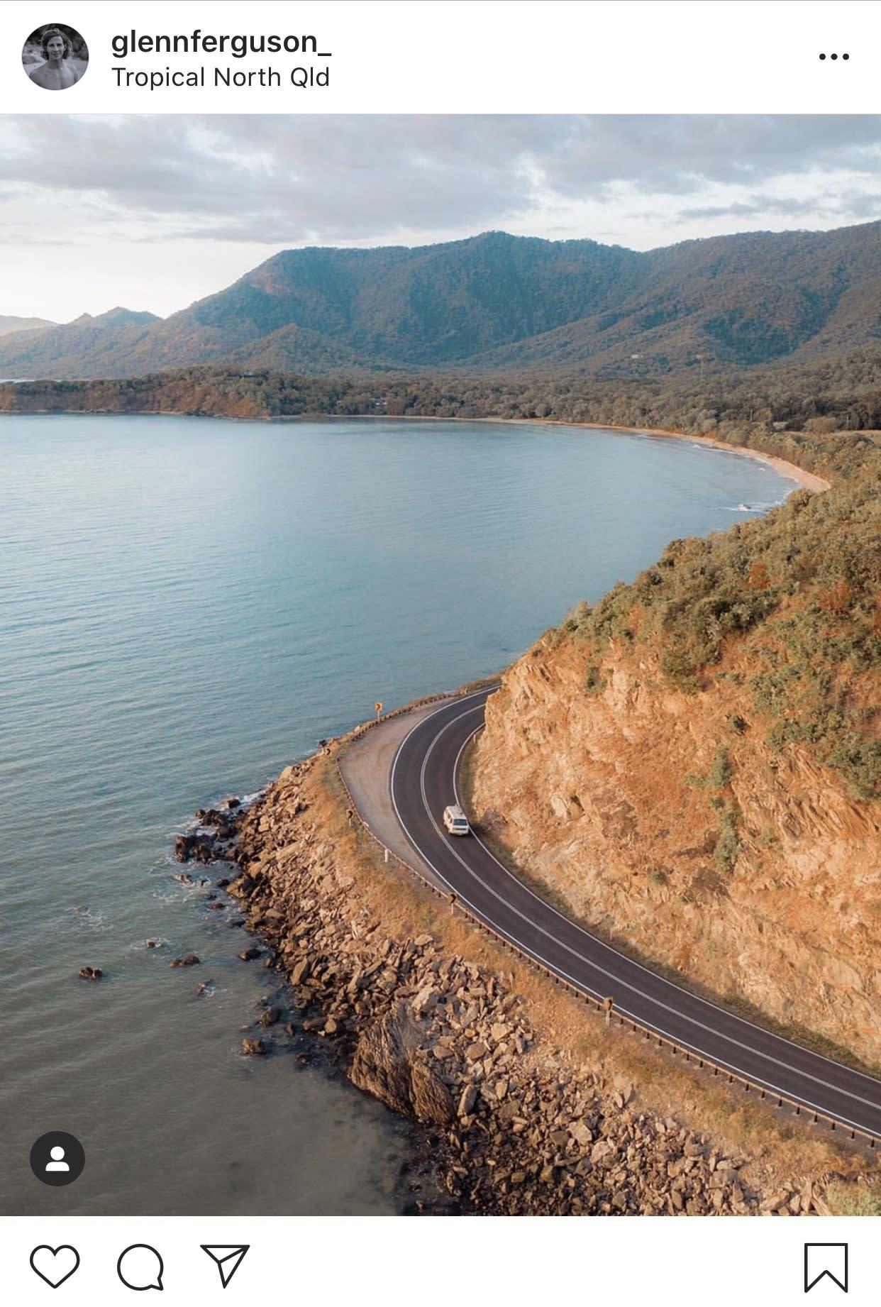 drive along Great Barrier Reef