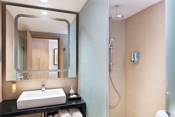 Oaks Bodhgaya India - Deluxe Room with Shower - Bathroom