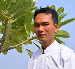 Chef Anuwat Chantakorn at Oaks Bodhgaya