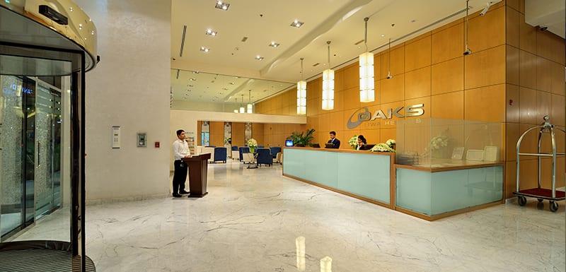Lobby at Oaks Liwa Heights