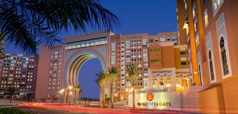 Iconic Ibn Battuta Gate complex and Oaks Ibn Battuta