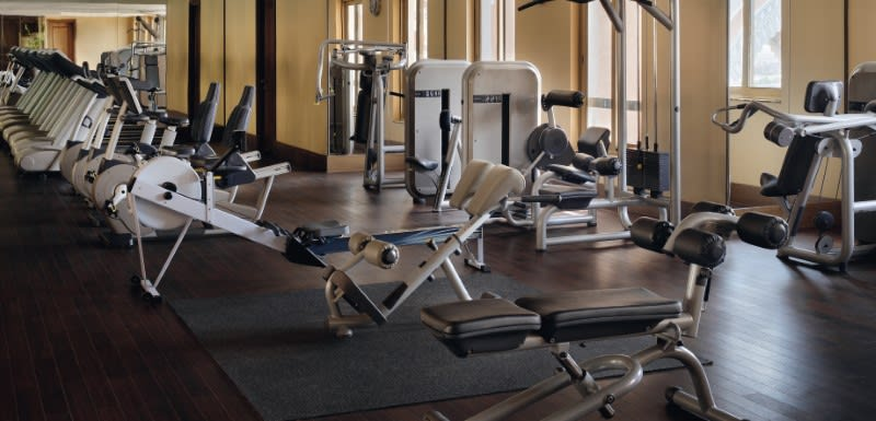 Fully equipped gym and fitness centre at Oaks Ibn Battuta