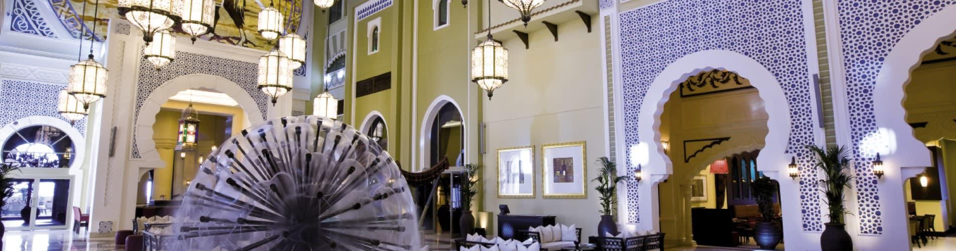 Exceptionally designed luxury lobby at Oaks Ibn Battuta