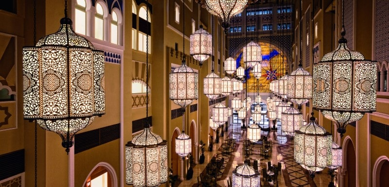 Iconic hotel interior architecture at Oaks Ibn Battuta