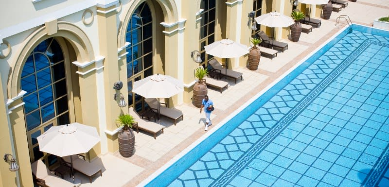 Rooftop pool at Oaks Ibn Battuta Gate Dubai