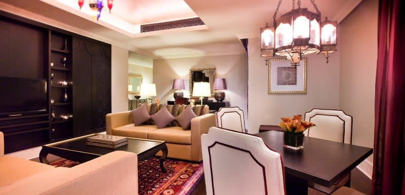 Elegant luxury suite design at Oaks Ibn Battuta Gate Dubai